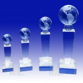 Crytal Globe Trophy TH093 (Size: Small)